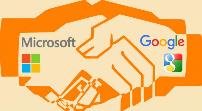 microsoft dan google