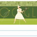 Sosok Suzanne Lenglen di Google Doodle