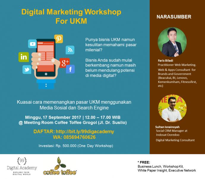 Workshop Digital Marketing Kuasai Pasar Ukm Era Milenial