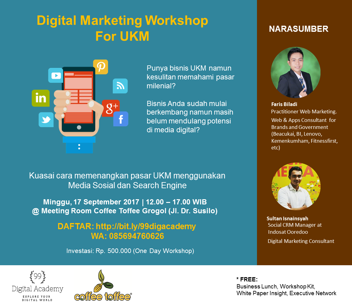 Digital Marketing Workshop: Menangkan Pasar UKM di ERA MILENIAL!