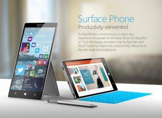 Kamera Surface Phone bisa dilipat