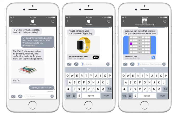 Apple Luncurkan Business Chat sebagai lawan WhatsApp for Business