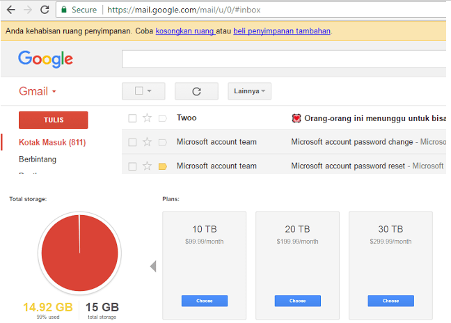 Begini Cara Mengelola Penyimpanan di Gmail