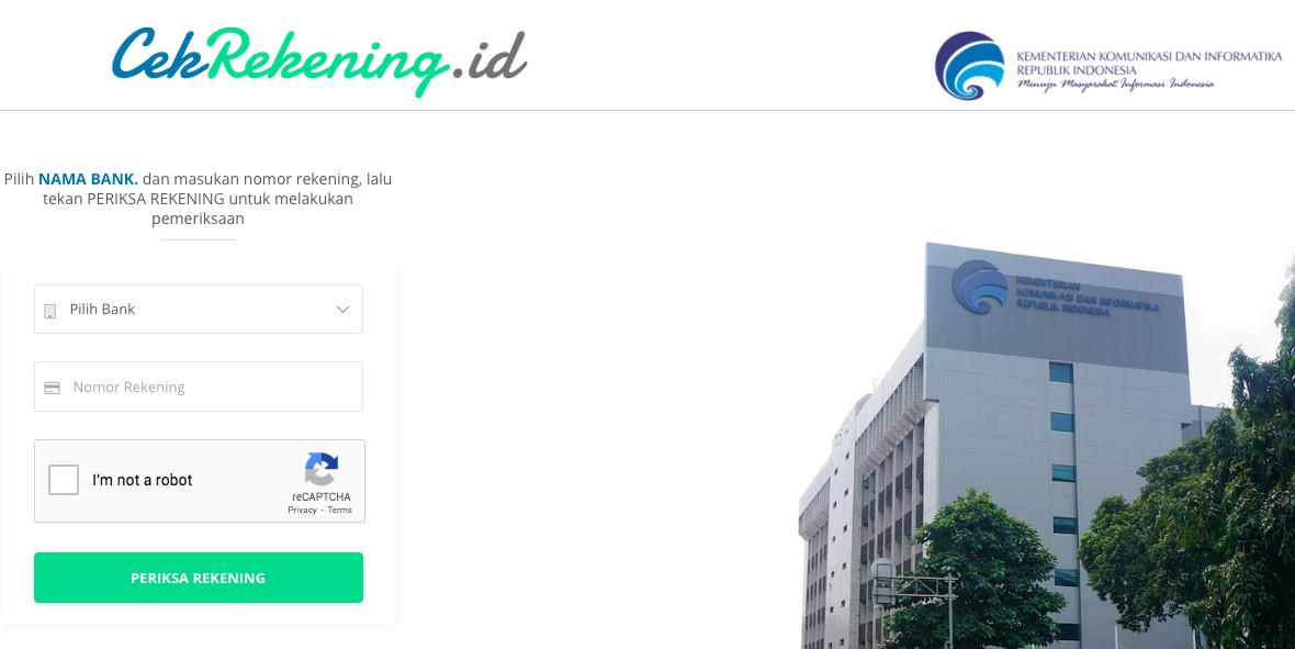 Cara Cek Rekening Penipu Online Via Website Kominfo